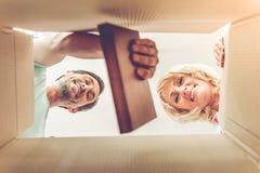 Beau déplacement mûr de couples Image libre de droits