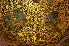Beau détail de cathédrale de Vank à Isphahan, Iran Photo stock