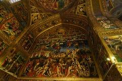 Beau détail de cathédrale de Vank à Isphahan, Iran Image libre de droits