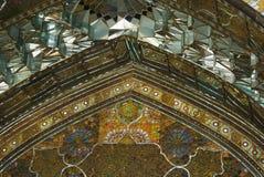 Beau détail de palais de Golestan à Téhéran, Iran photos stock