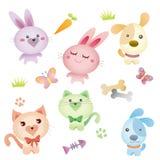 Beau dessin d'animal familier illustration stock