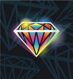 Beau diamant Image libre de droits