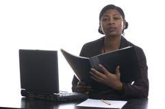 Beau directeur femelle noir Images libres de droits
