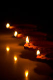 Beau Diwali Candels Image libre de droits