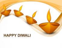Beau diya religieux coloré de Diwali de décoration Image stock