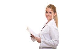 Beau docteur féminin photographie stock libre de droits