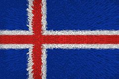 Beau drapeau de l'Islande photos libres de droits