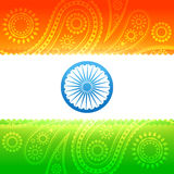 Beau drapeau indien Photo stock