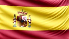Beau drapeau réaliste 4k de l'Espagne clips vidéos