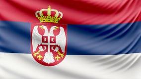 Beau drapeau réaliste 4k de la Serbie banque de vidéos