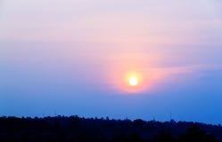 Beau du temps de coucher du soleil Images stock