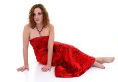 Beau en rouge Photographie stock libre de droits