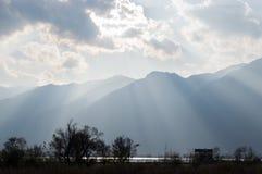 Beau Erhai coucher du soleil de Yunnan, Chine Dali Photo libre de droits