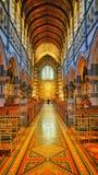 Beau et coloré intérieur de la cathédrale de St Paul à Melbourne image stock