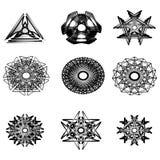 Beau et symétrique modèle géométrique Images stock
