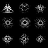 Beau et symétrique modèle géométrique Photographie stock