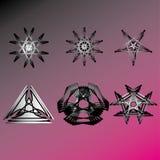 Beau et symétrique modèle géométrique Image libre de droits