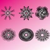 Beau et symétrique modèle géométrique Image stock