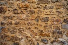 Beau et vieux mur en pierre images libres de droits