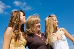 Beau famille dans le profil Photographie stock libre de droits