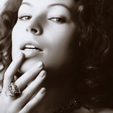 Beau femme Image stock