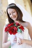 Beau femme au mariage Images stock