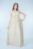 Beau femme avec la robe moderne Image libre de droits
