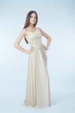 Beau femme avec la robe moderne Photo libre de droits