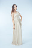 Beau femme avec la robe moderne Images stock