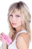 Beau femme avec le cheveu blond Photo stock