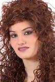 Beau femme avec le cheveu bouclé Photo stock