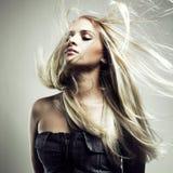 Beau femme avec le cheveu magnifique photo stock
