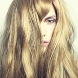Beau femme avec le cheveu magnifique Photos libres de droits