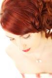 Beau femme avec le cheveu rouge Image libre de droits