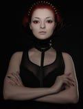 Beau femme avec le cheveu rouge Images libres de droits