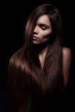 Beau femme avec le long cheveu Image libre de droits