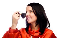 Beau femme avec le mascara Photographie stock libre de droits