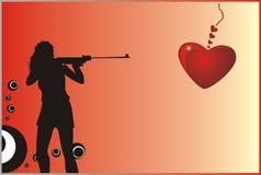 Beau femme avec un fusil Image libre de droits