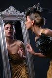 Beau femme blanc dans l'image de diva Image libre de droits