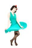 Beau femme dans la robe de veille de la toussaint Photo libre de droits