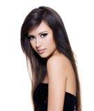 Beau femme de sensualité avec le long cheveu Photo libre de droits