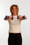 Beau femme en gymnastique de forme physique Images stock