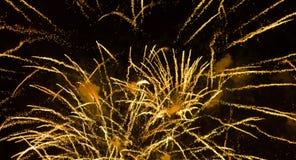 Beau feu d'artifice Longueur dans 4K illustration de vecteur