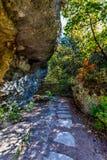 Beau feuillage d'automne sur une traînée chez Hamilton Creek, le Texas photo libre de droits
