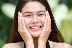 Beau Filipina Adult Female étonné photos stock