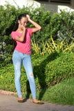 Beau Filipina Female Under Stress photo stock