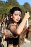 Beau fille-guerrier - Amazone Image libre de droits