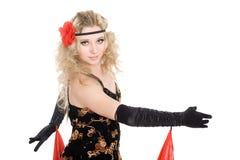 Beau flamenco de danse de fille. Photographie stock