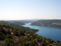 Beau fleuve de Krka en Croatie Photos libres de droits