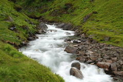 Beau fleuve en Norvège Photo stock